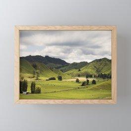 Farmland Forgotten World Highway SH 43 New Zealand Framed Mini Art Print