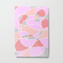 Randomly Retro Iced Pink Metal Print
