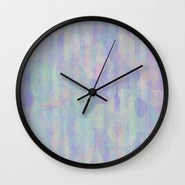 Vintage pastel geometric background Wall Clock