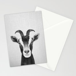 Goat - Black & White Stationery Cards
