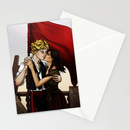 Enjolras x Eponine - Meet me at the barricades Stationery Cards