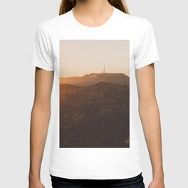 Hollywood Sign from Griffith in the sunset T-shirt