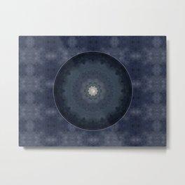 Bohemian Meditation Blue Moon Mandala A617 Metal Print