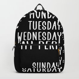 my perfect week harp Backpack