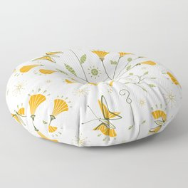 Super Bloom Poppy Mobiles ©studioxtine Floor Pillow