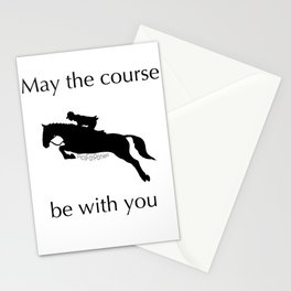 May the course be with you Stationery Cards