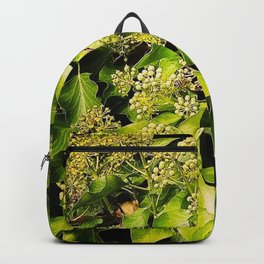 Butterfly and green leafs Backpack
