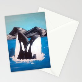 Killer Whales Stationery Cards