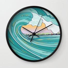 Summer Bowls Wall Clock