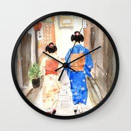 Maikos in Japan Wall Clock