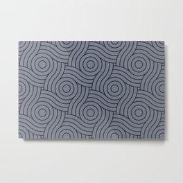 Circle Swirl Pattern Grayish Blue Inspired By VA Hazy Blue, Seattle Haze Blue Gray, Twinkle Twinkle Metal Print