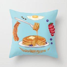 Pancake Mandala Throw Pillow