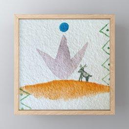 fabled deer Framed Mini Art Print