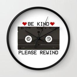 Be Kind, Please Rewind Retro VHS Wall Clock