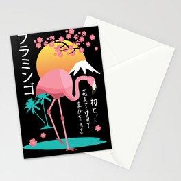 Flamingo Japanese Art Style Stationery Cards