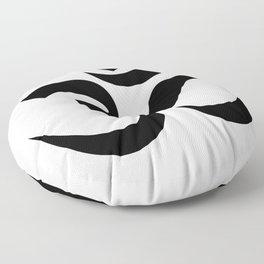 om sacred sound symbol Floor Pillow