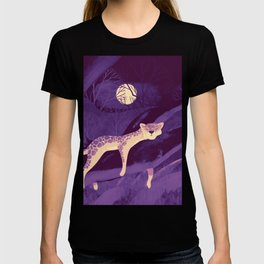 Purple Leopard illustration Art T-shirt