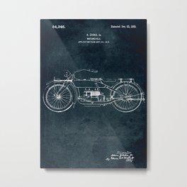 1919 - Motorcycle patent art Metal Print