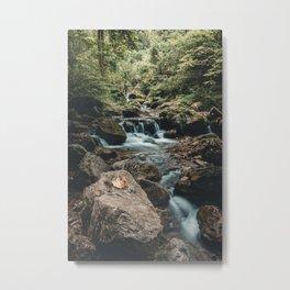 Autumn Waterfalls in Styria Austria Metal Print