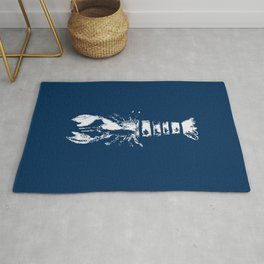 Nautical Themes, Lobster in Blue Rug