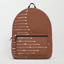 Geometric Lines / Terracotta Backpack