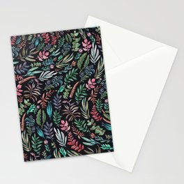 water color garden at nigth Stationery Cards