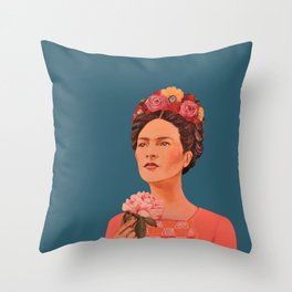 moi, Frida! Throw Pillow