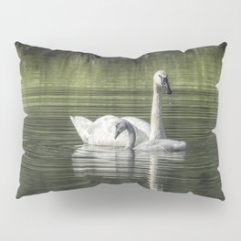 Swan with Cygnet Pillow Sham