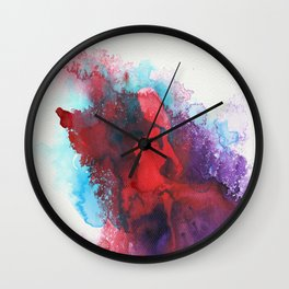 """conquer from within"" art by weart2 Wall Clock"