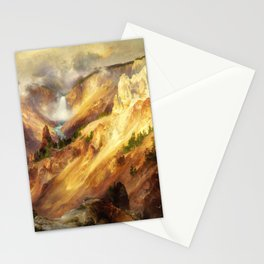 Thomas Moran - The Grand Canyon Of The Yellowstone - Digital Remastered Edition Stationery Cards