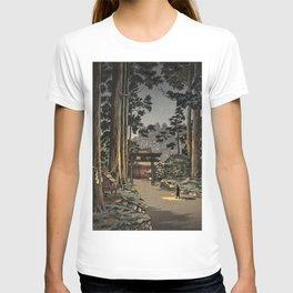Tsuchiya Koitsu - Nikko Futarasan Temple - Japanese Vintage Woodblock Painting T-shirt