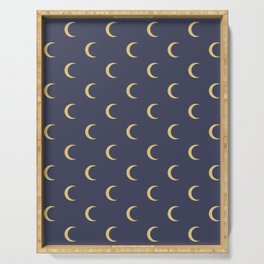 Crescent Moon Sky Pattern Serving Tray