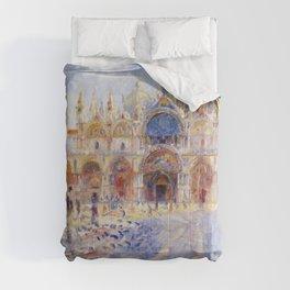 Pierre Auguste Renoir - The Piazza San Marco, Venice Comforters