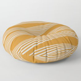 Wavy Stripes // Goldenrod Floor Pillow
