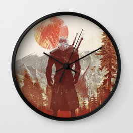 The Witcher Geralt variation print Wall Clock