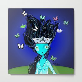 Locura de Mariposas Metal Print