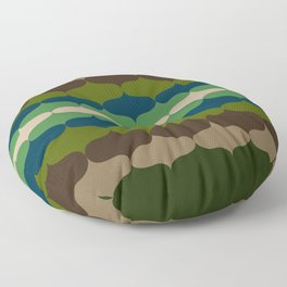 Retro 70s Pattern 4 Floor Pillow