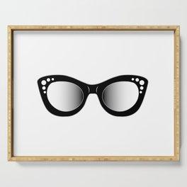 hipster fashion cat eye sunglasses or eyewear Serving Tray