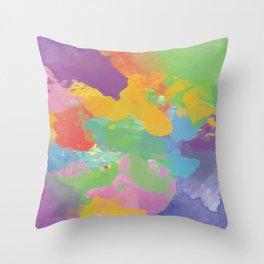 Watercolor Splatter Throw Pillow