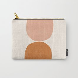 Terracotta Mid Century Modern Abstract Carry-All Pouch