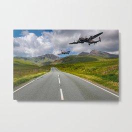 Lancaster Bomber in Snowdonia Metal Print