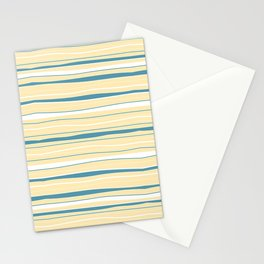 Mid Century Modern Minimal Light Yellow Stationery Cards