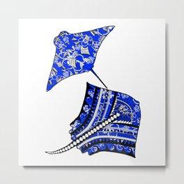Tribal Stingrays Ocean Animals Metal Print