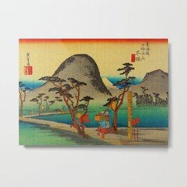 Vintage Woodblock - Hiratsuka Japan Metal Print