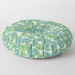 Mini Green Monstera Tropical Plant Pattern Floor Pillow