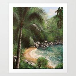 Tropical Cove - Acrylic on Canvas Art Print