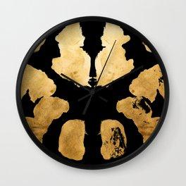 Rorschach Inkblot 08 Wall Clock