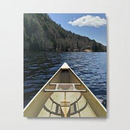 Canoe Ride Metal Print
