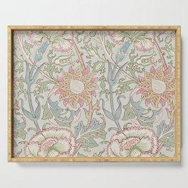 William Morris Vintage Pink & Rose Eggshell Blue Rose Pink Serving Tray