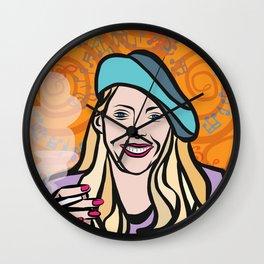 Joni Mitchell portrait Wall Clock
